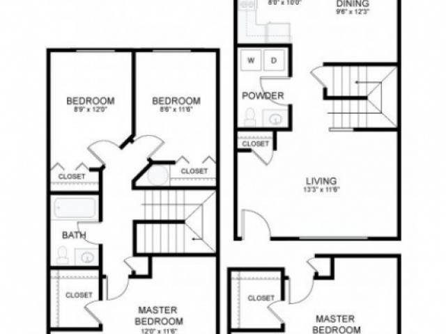4 Bedroom Townhouse | New Columbia Apartments